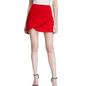 Alice + Olivia Asymmetrical Mini Skirt
